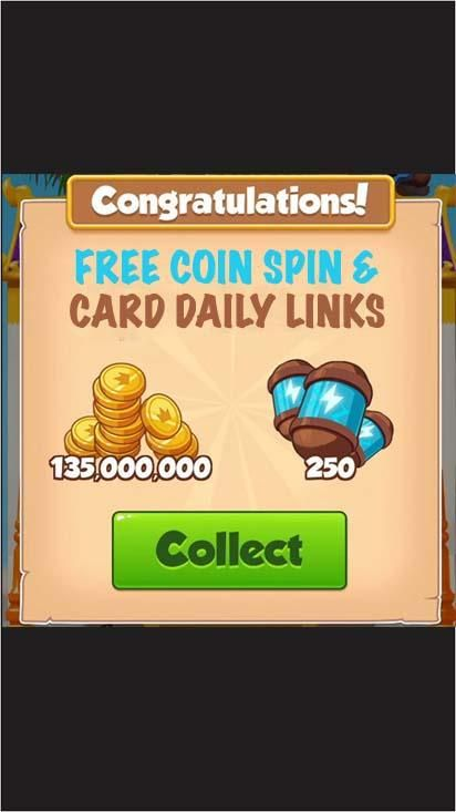 Free coin and spin daily links coin master free coin daily