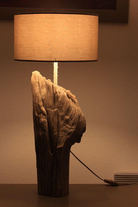 Lampe A Poser En Bois Flotte Lampe De Bureau La Vie Du Bois
