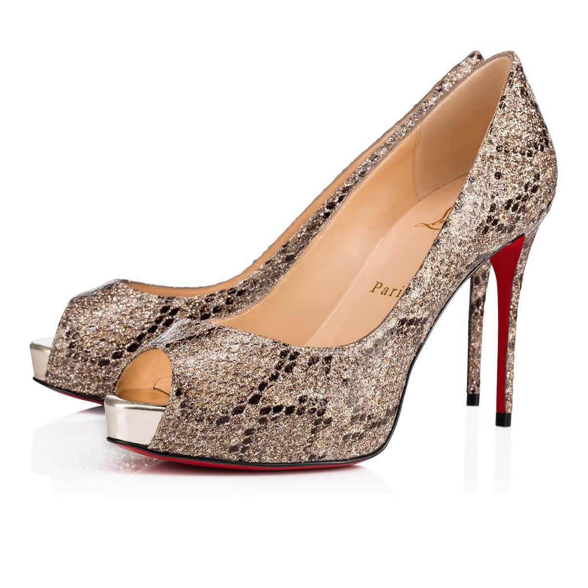 446d89cb295 CHRISTIAN LOUBOUTIN New Very Prive 100 Roccia Light Gold Glitter - Women  Shoes - Christian Louboutin.  christianlouboutin  shoes