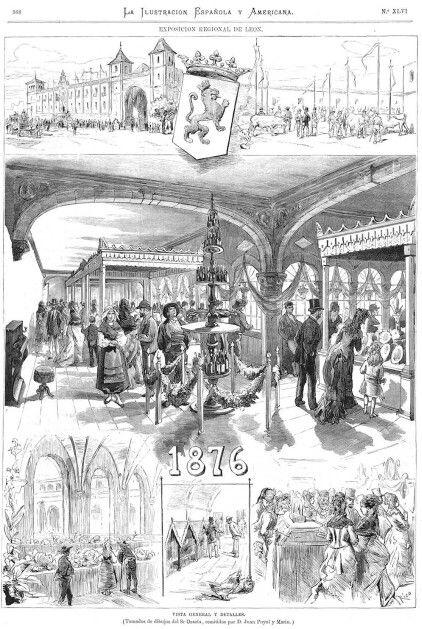 León,  cartel exposición regional de León, 1876