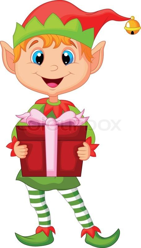 stock vector of vector illustration of cute christmas cartoon elf rh pinterest com Fairy Vector Graphic Elf Boy Vector Graphics