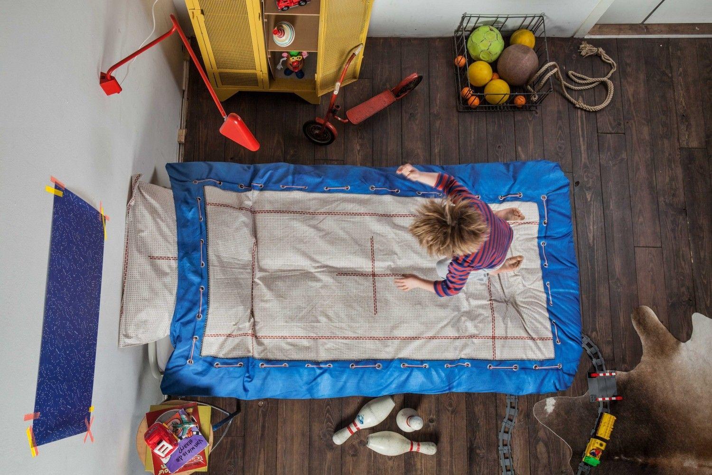 Dekbedovertrek trampoline