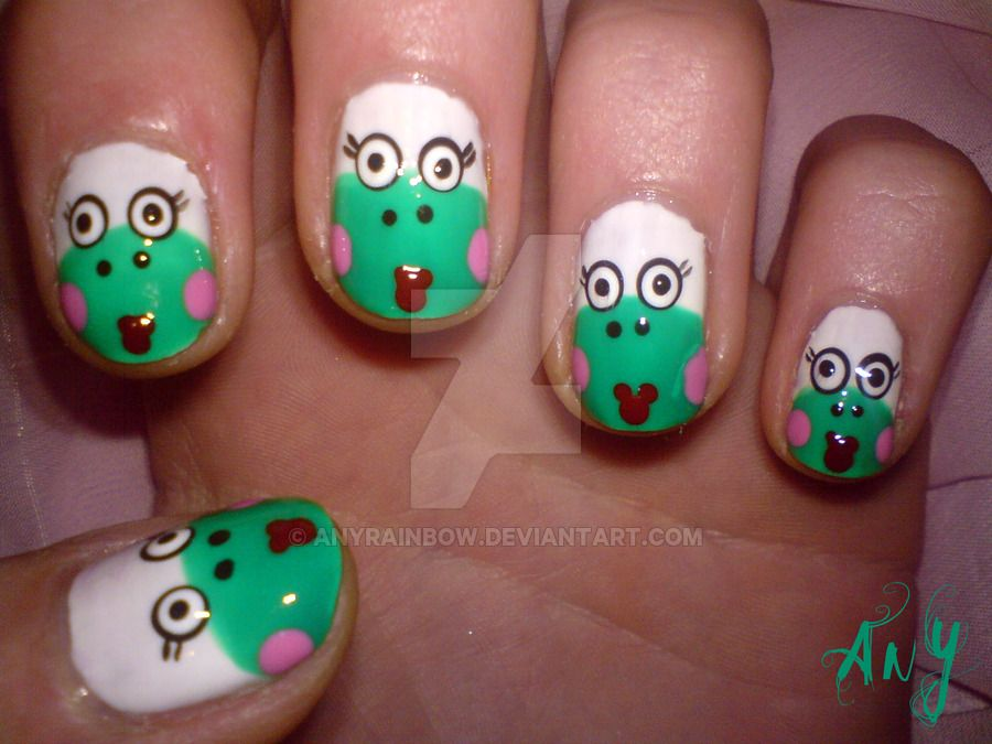 Pretty Frog Nail Design by AnyRainbow | FROG NAIL ART | Pinterest ...