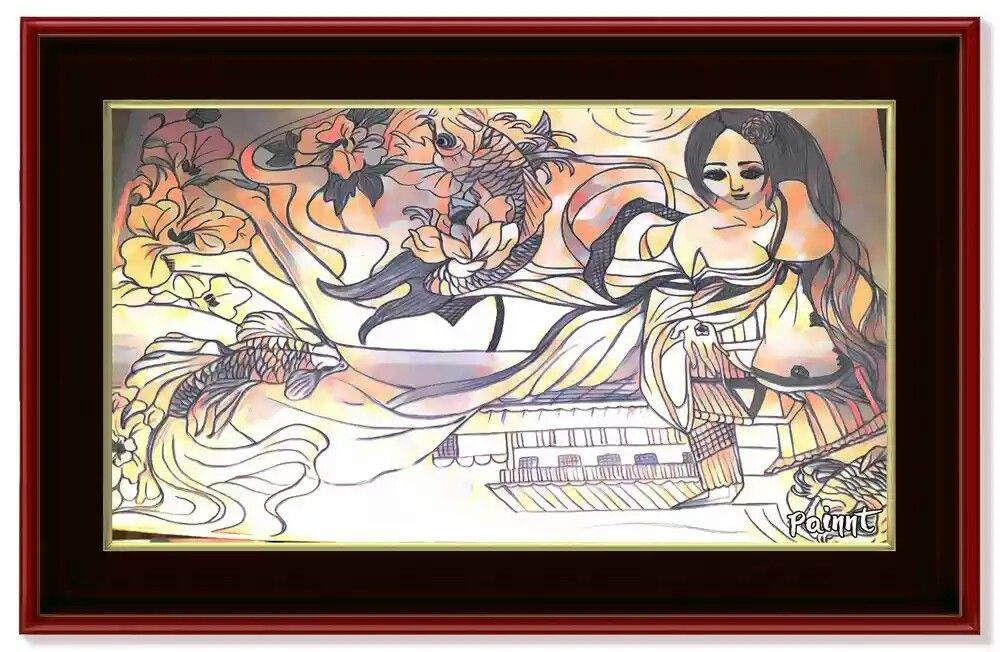 Lukisan geisha Geisha, Lukisan, Lukisan seni