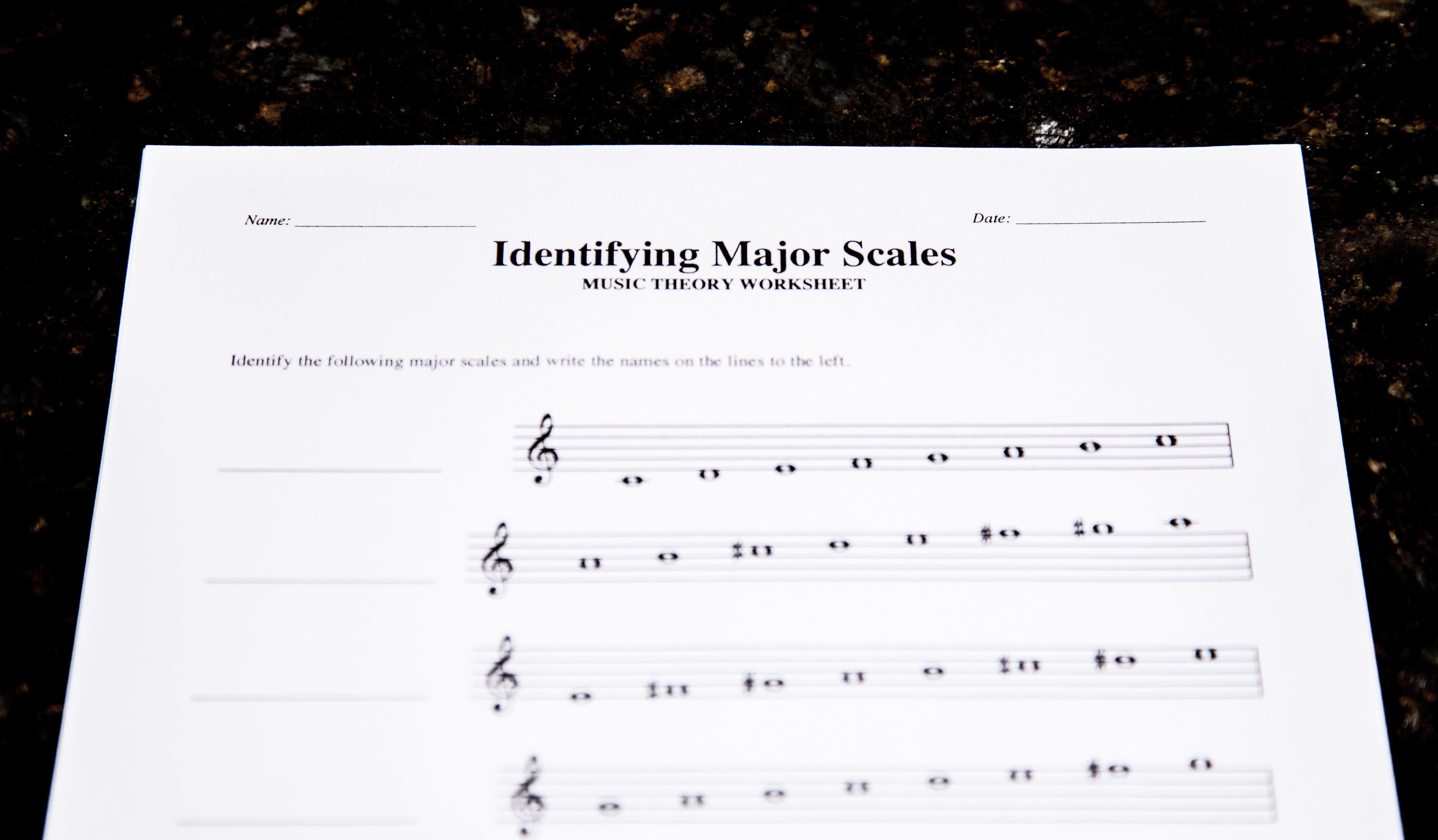 3 Free Theory Worksheet Printables Major Scales Lacie