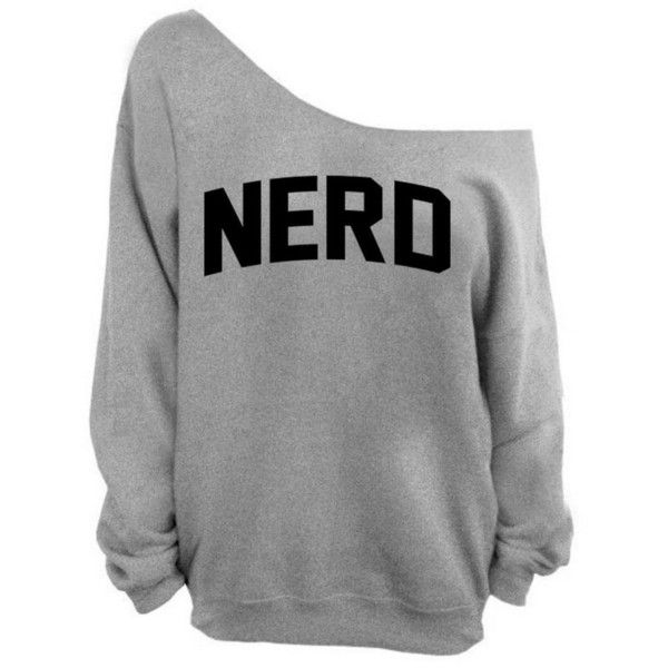 Awkwardstyles Nerd Off the Shoulder Oversized Sweater Sweatshirt ...
