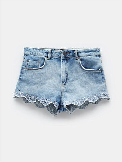 Korte Broek Dames Sting.Lace Short Middle Used The Sting Wth Clothes Lace Shorts