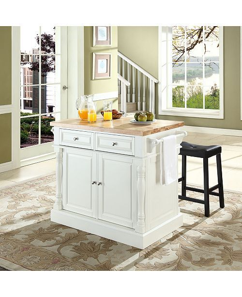 Swell Oxford Butcher Block Top Kitchen Island With 24 Upholstered Andrewgaddart Wooden Chair Designs For Living Room Andrewgaddartcom
