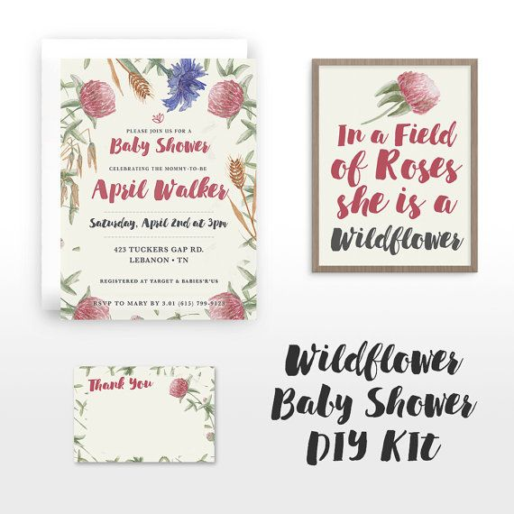 Download this DIY kit for an easy baby shower theme!  This is an 8.5x11 digital…