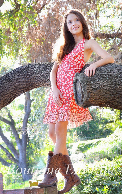Preteen Tween Teen Halter Dress 8-16 in Summertime Collection ...