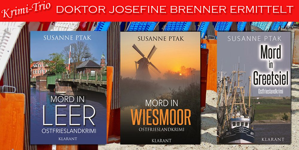 "#Buchtipp Doktor Josefine Brenner ermittelt 📚  ""Mord in Leer"" von Susanne Ptak https://www.amazon.de/dp/B01IU8654I  #Krimireihe: http://amzn.to/2hILEG2 #Ostfrieslandkrimi"