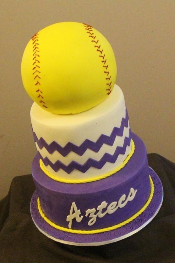 Surprising Softball Cake Her Favorite One Softball Birthday Cakes Personalised Birthday Cards Paralily Jamesorg