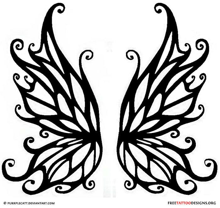 photograph regarding Free Printable Fairy Wings known as Black fairy wings tattoo design and style Tattoos I get pleasure from Fairy