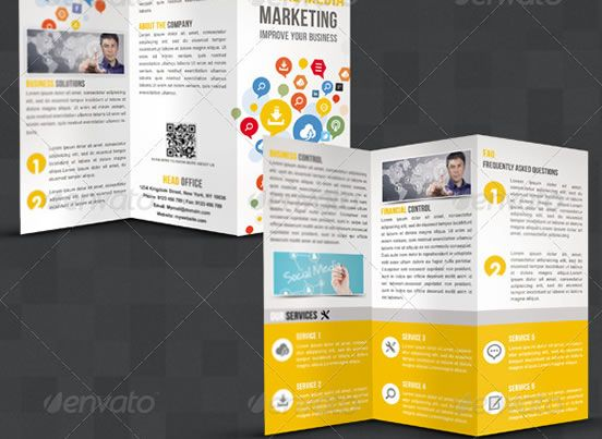 creative tri fold brochure design templates entheosweb graphic