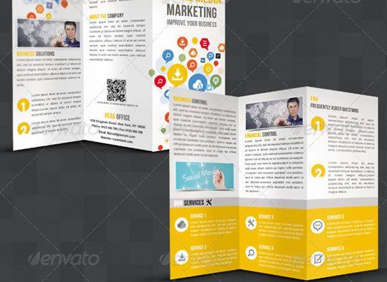 Creative TriFold Brochure Design Templates  Entheosweb  Graphic