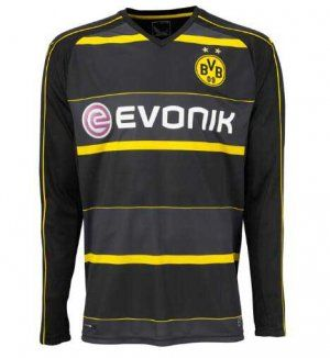 Dortmund 16-17 Season Away Black LS Soccer Jersey [H453]