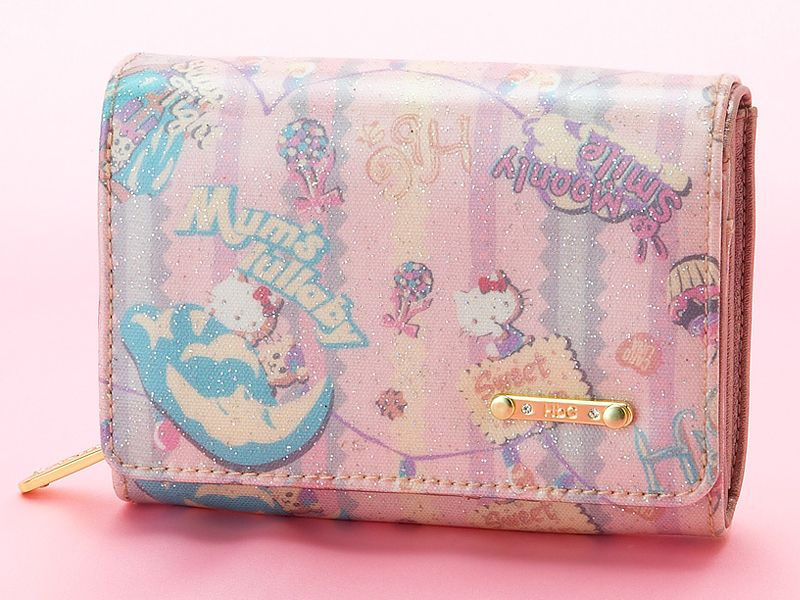 35bf51ec0e Hello Kitty x HbG Collaboration Wallet Purse Pink SANRIO JAPAN