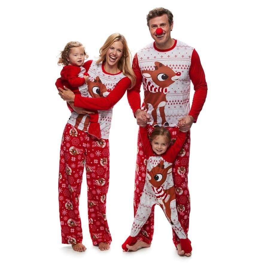 99a5c3763fdc Fashion Adult Kids Christmas Pyjamas Family Matching Outfits Pajamas Cotton   pudcoco  Casual
