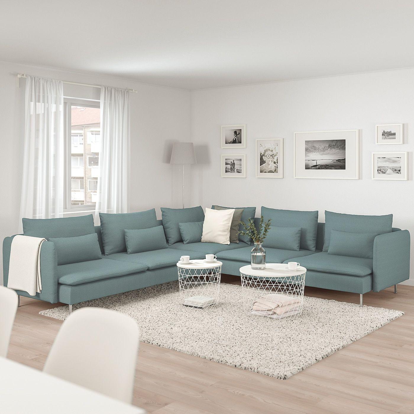 ikea  sÖderhamn sectional 5seat in 2020  living room