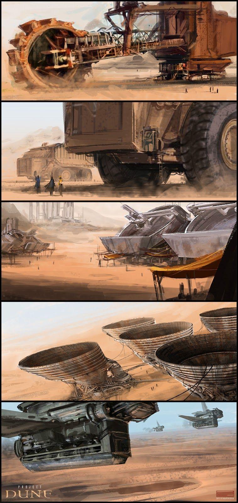 Dune Vehicles Concept Art
