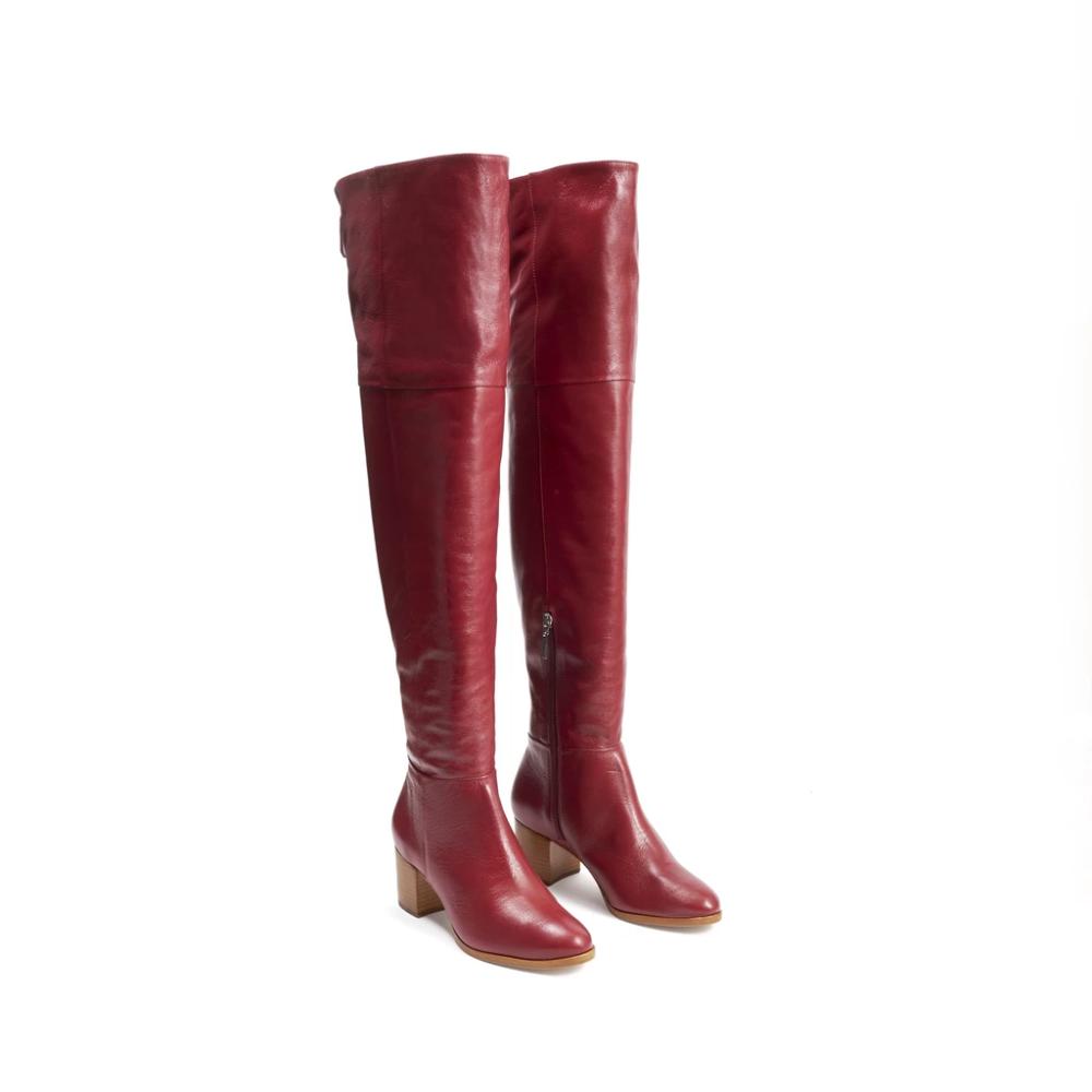 Sivana OTK Leather Boot w Shearling Lining | Schutz Shoes