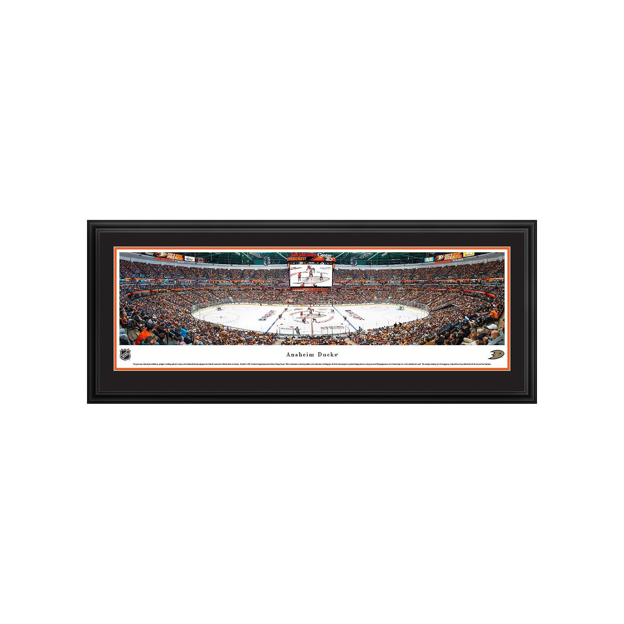 Anaheim Ducks Hockey Arena Center Ice Framed Wall Art, Multicolor