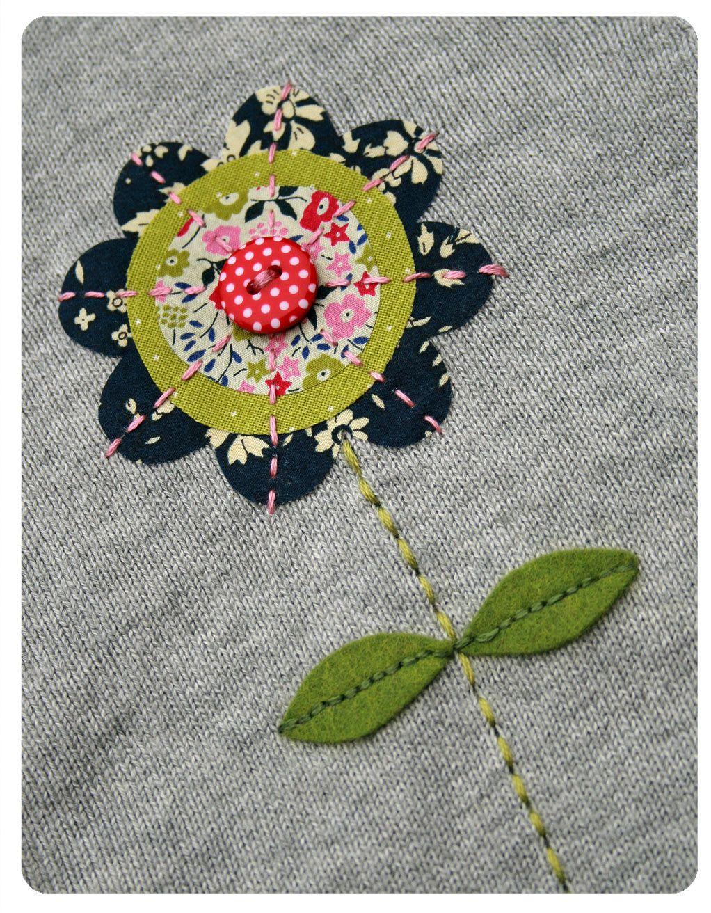 Blumen-Applikation | home sweet home | Pinterest | Blume applikation ...