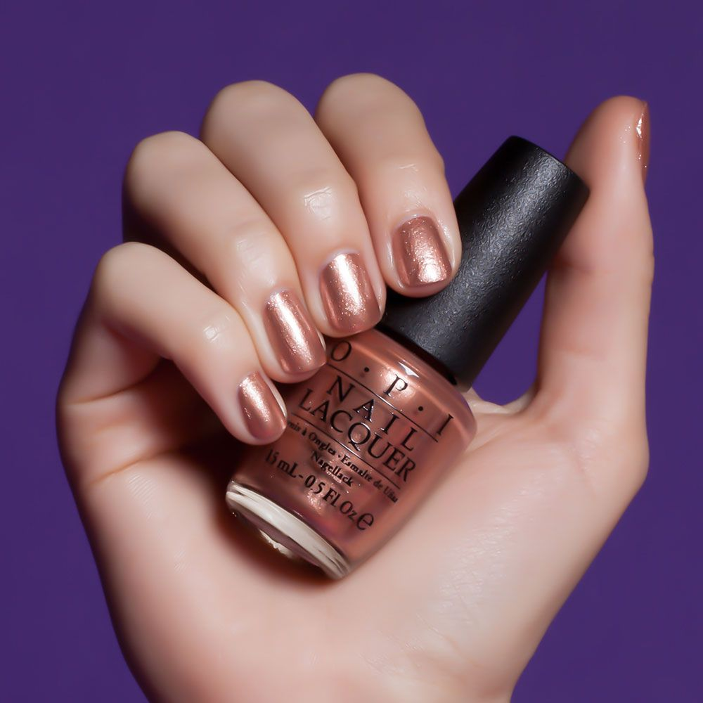 "Flaunt your fashion ""cents"" in this shimmery copper."