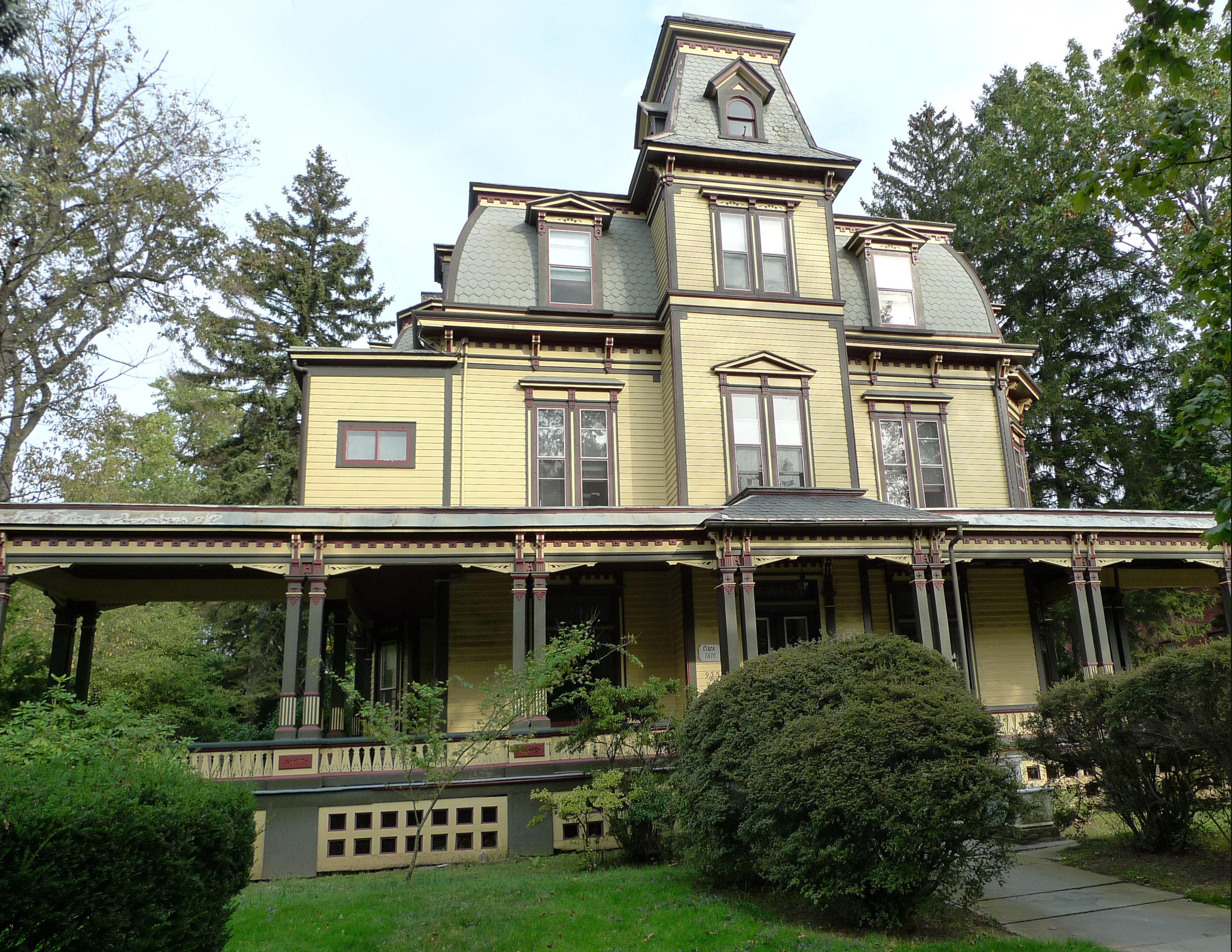 Van wyck brooks historic district plainfield nj second for Historic second empire house plans