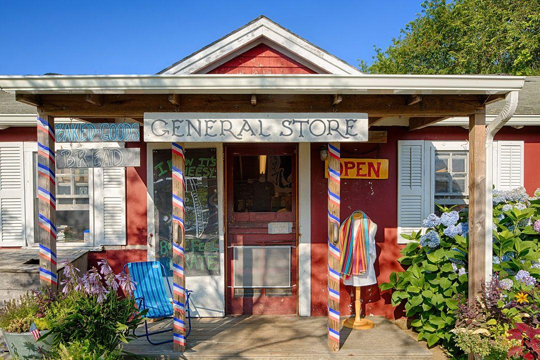 Marthas Vineyard, MA. General Store near South Beach
