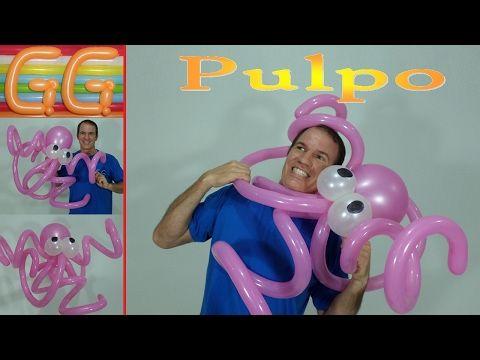 como hacer un pulpo con globos - globoflexia facil - figuras con