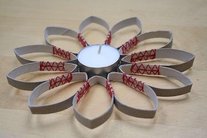 decorazioni di natale con il riciclo creativo - candela di natale