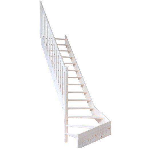 escalier quart tournant jardin