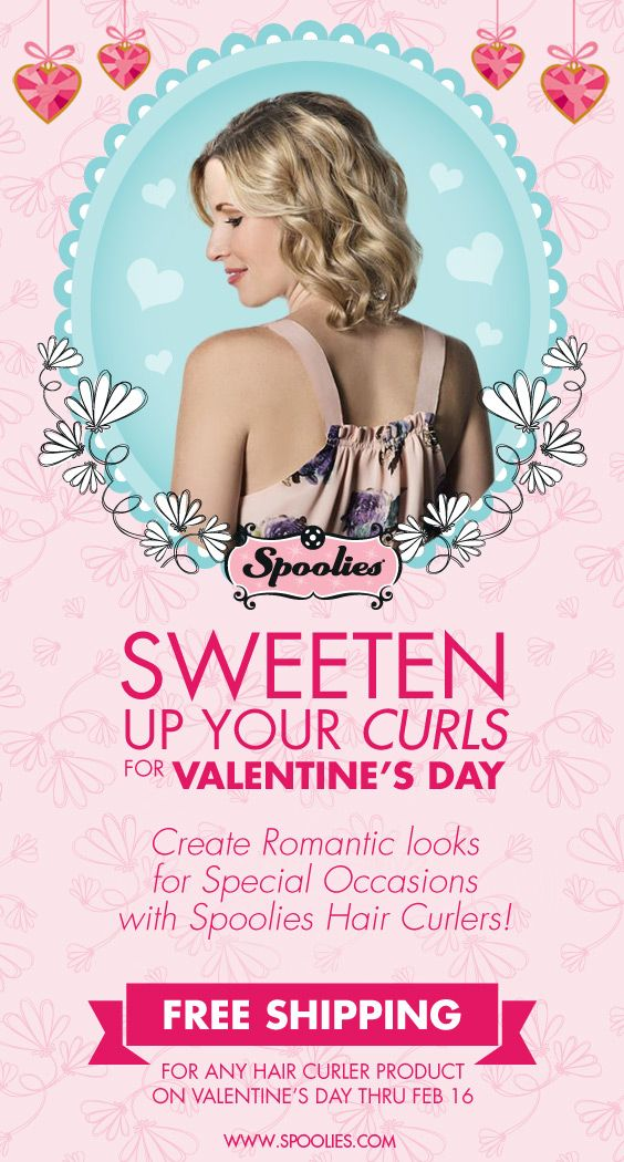 Sweeten up your curls for Valentine\'s day. Create romantic ...