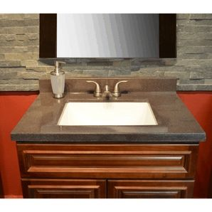 "Bathroom Sinks 31 X 19 31"" x 19"" espresso two tone cultured granite vanity top | home"