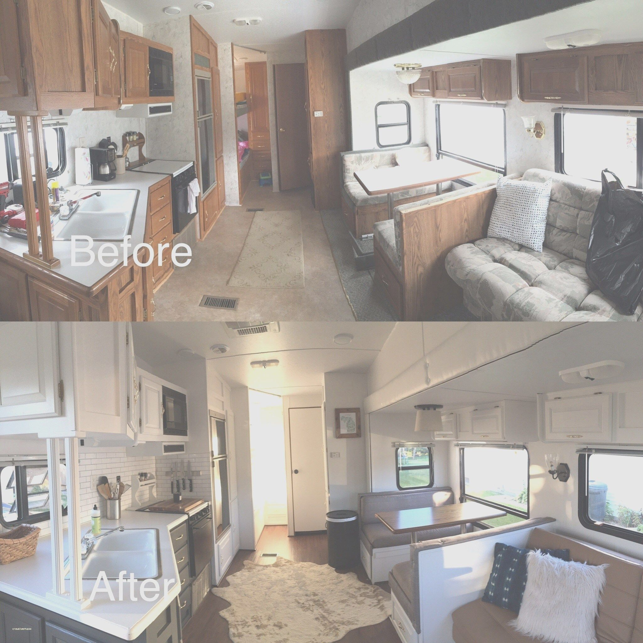 Small Rv Remodel Before And After