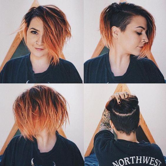 23 Cute Undercut Bob Haircuts For Women In 2019 In 2020 Short Hair Styles Hair Styles Thick Hair Styles