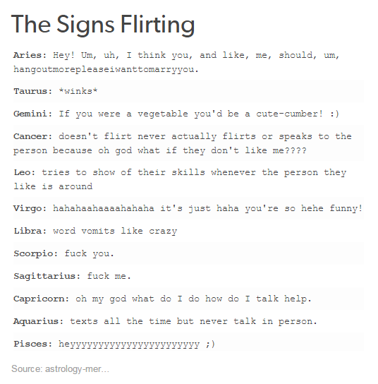Horoscopes Quotes : QUOTATION - Image : As the quote says - Description The  Signs Flirting. I am on the cusp of Scorpio and Sagittarius this is the  best.