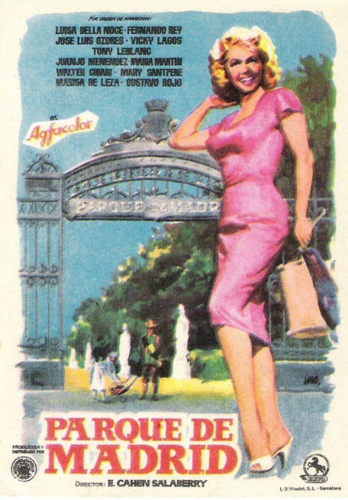 Pelicula Que Narra Historias De Personajes De Un Dia Cualquiera En El Parque Del Retiro 1959 Parques De Madrid Parques Carteles De Cine