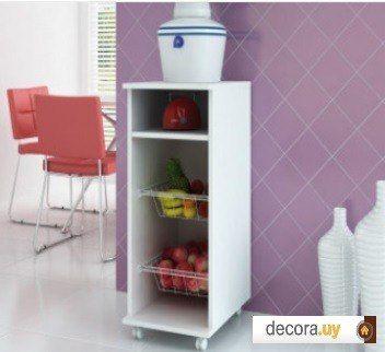 Mueble multiuso para dispensador de agua frutas y for Muebles online uruguay