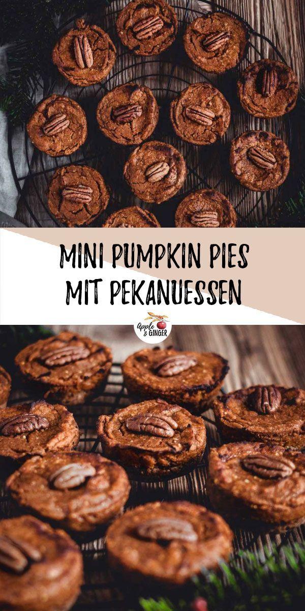 Mini Pumpkin Pies Leckere vegane und glutenfreie Mini Pumpkin Pies, die super weihnachtlich und kö