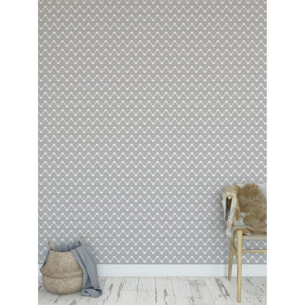 Jute Grey Peel And Stick Wallpaper By Becky Bailey 24 Quot X 360 Quot Grey Gray Kavka Design Kavka Designs Peel And Stick Wallpaper Accent Wall Bedroom