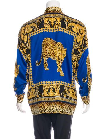 e186efbb1b6 Silk Baroque Jaguar Shirt in 2019 | James Style | Versace silk shirt ...