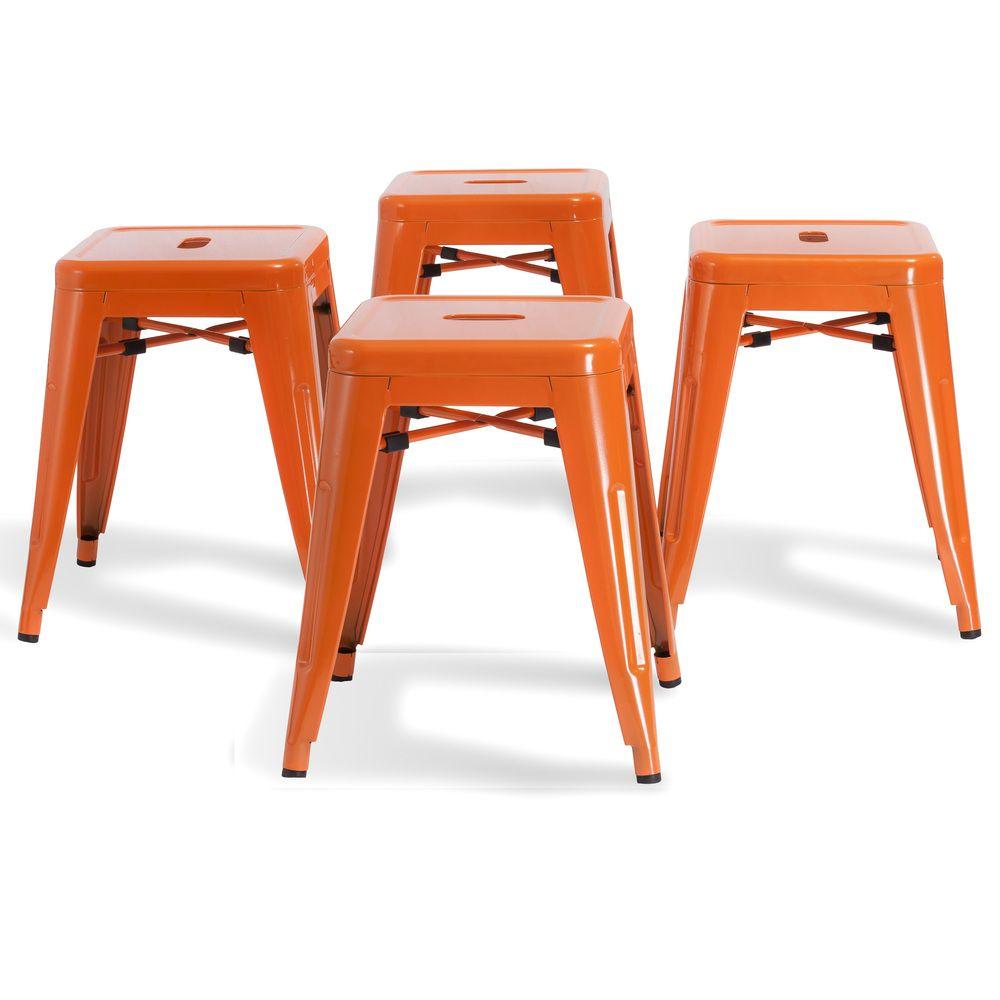 Stockwell Orange Iron Chairs (Set of 4) | Overstock.com ...
