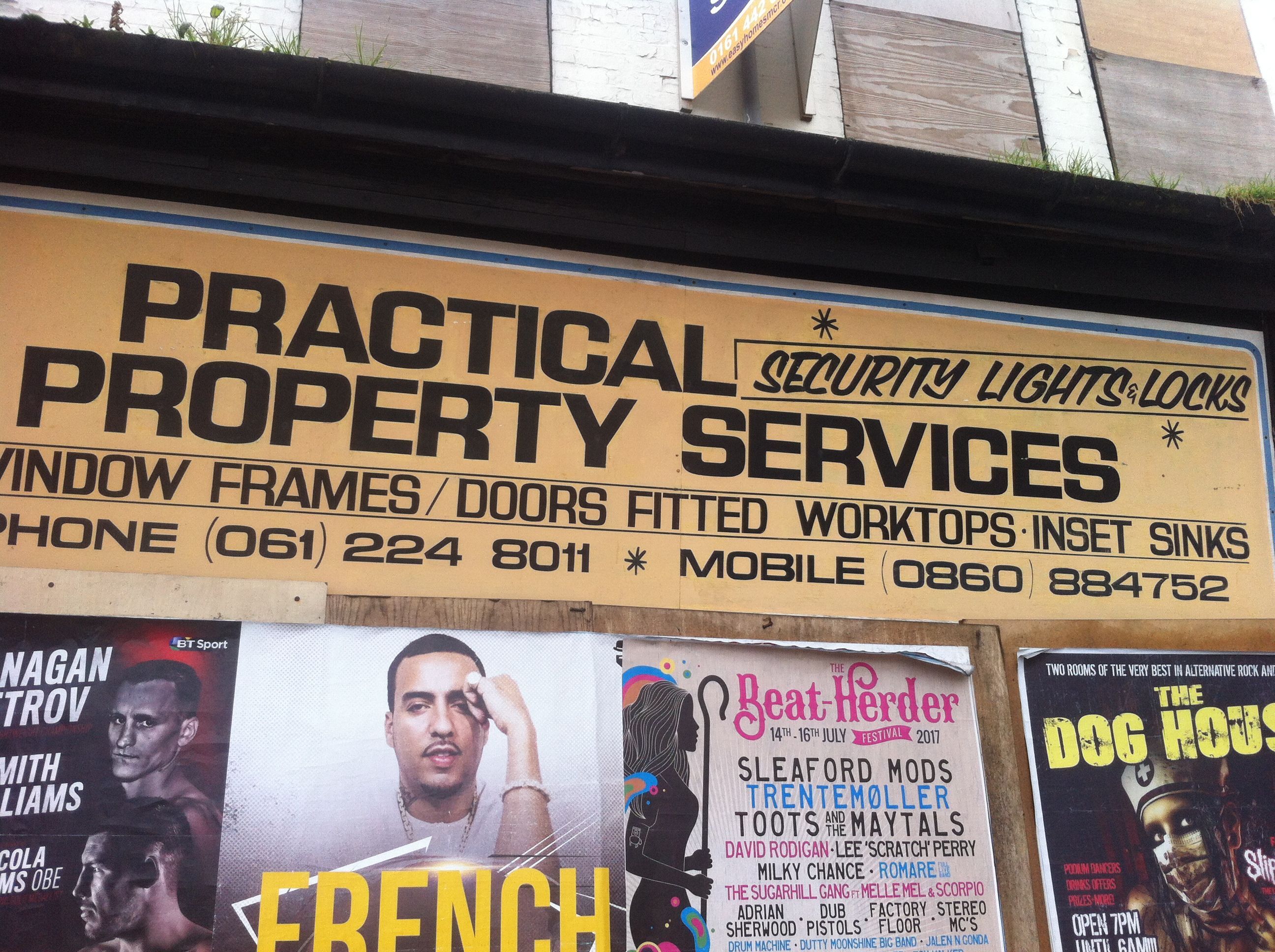 Practical Property Services, Yellow Levenshulme, by Emily Cheese