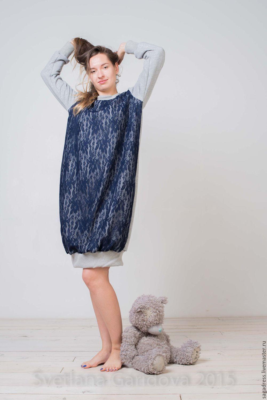 Теплое платье с приталенным силуэтом крючком