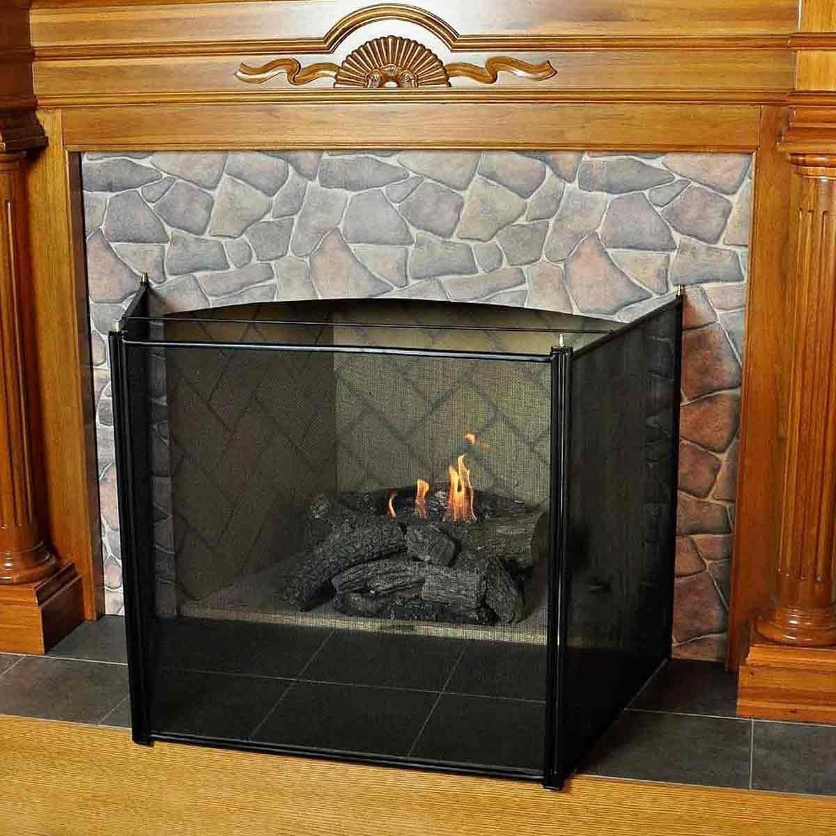 3 Fold Child Guard Fireplace Screen  Baby Proof Fireplace