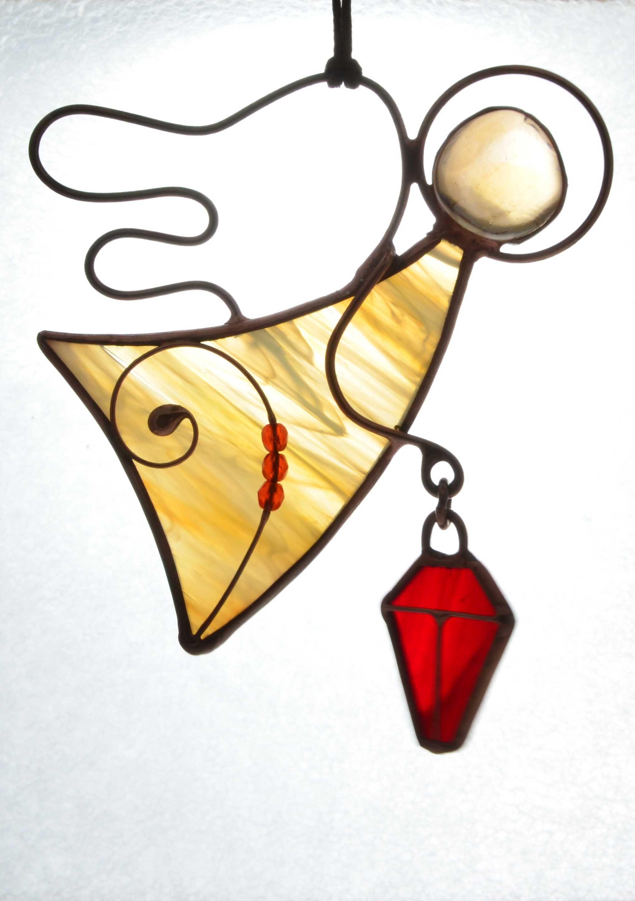 Stained glass angel, housewarming gift, Christmas angel, angel ...