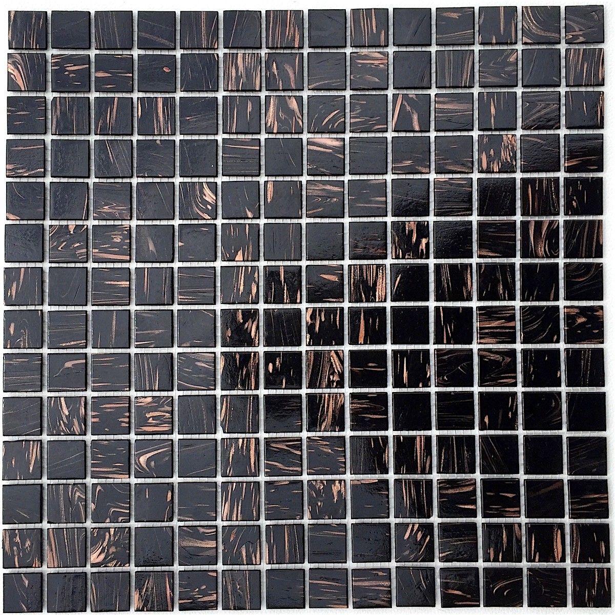 Mosaique Patedeverre Douche Et Salle De Bain Vitro Noir In 2020 Mosaic Glass Mosaic Glass