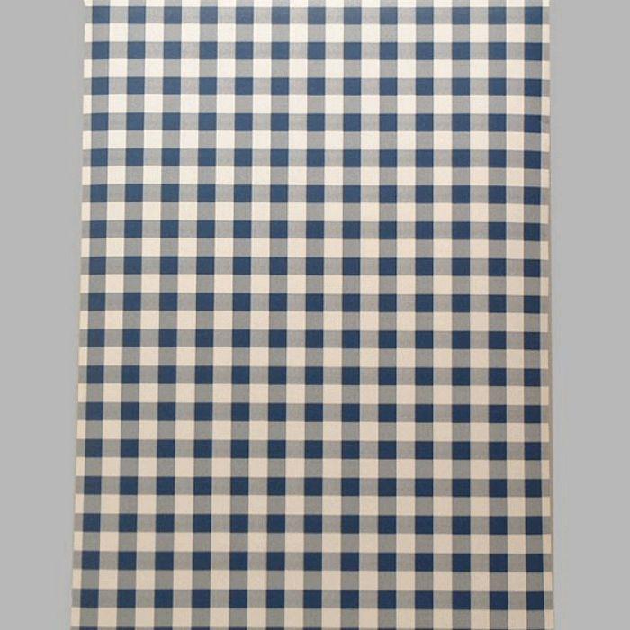 papier peint vichy bleu et blancEn appliquant le papier peint par